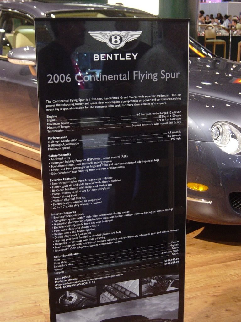 bentley continental flying spur information