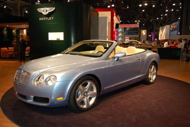 silver bentley convertible