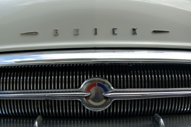 1957 buick special closeup front end