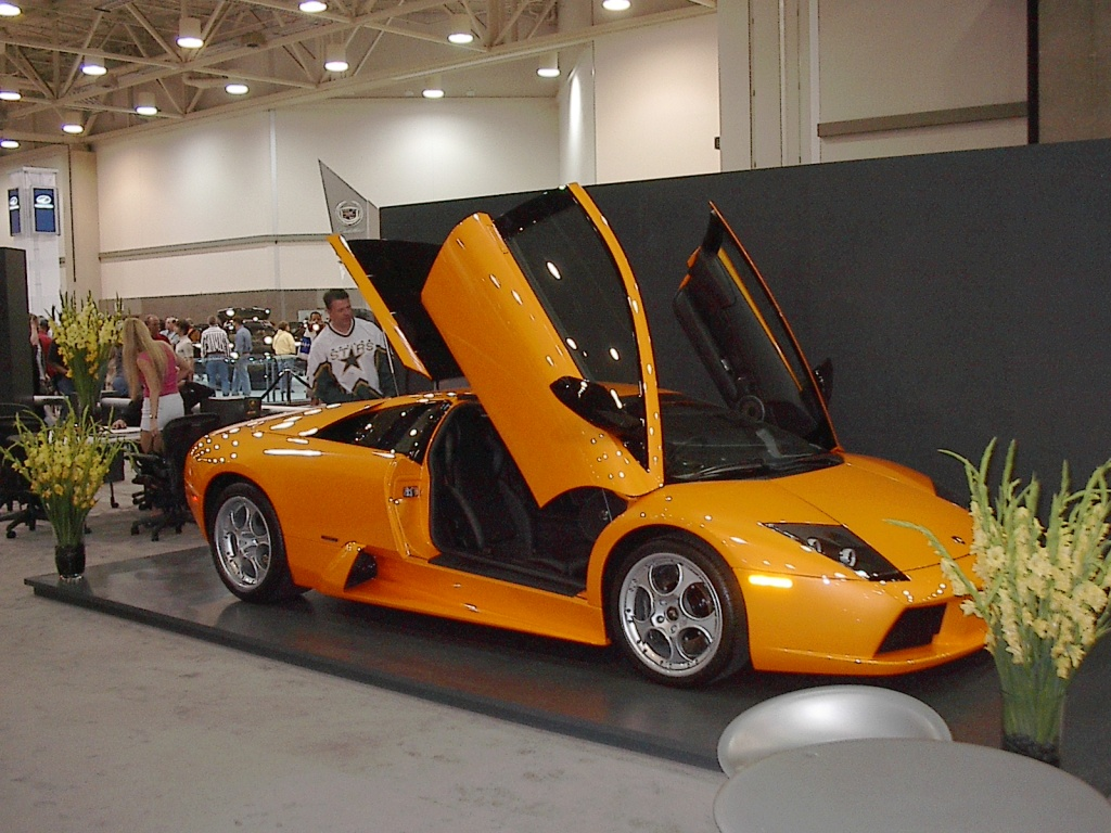 side-view-orange-lamborghini