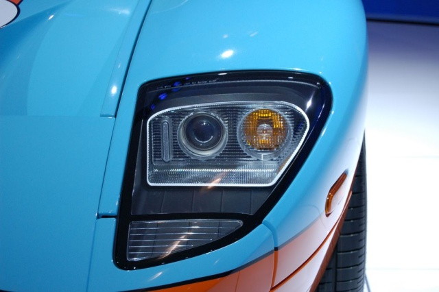 ford gt head lights close up
