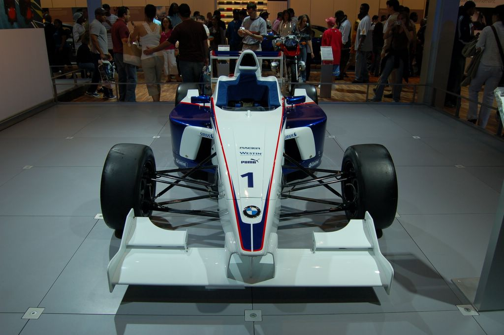 bmw race car front view