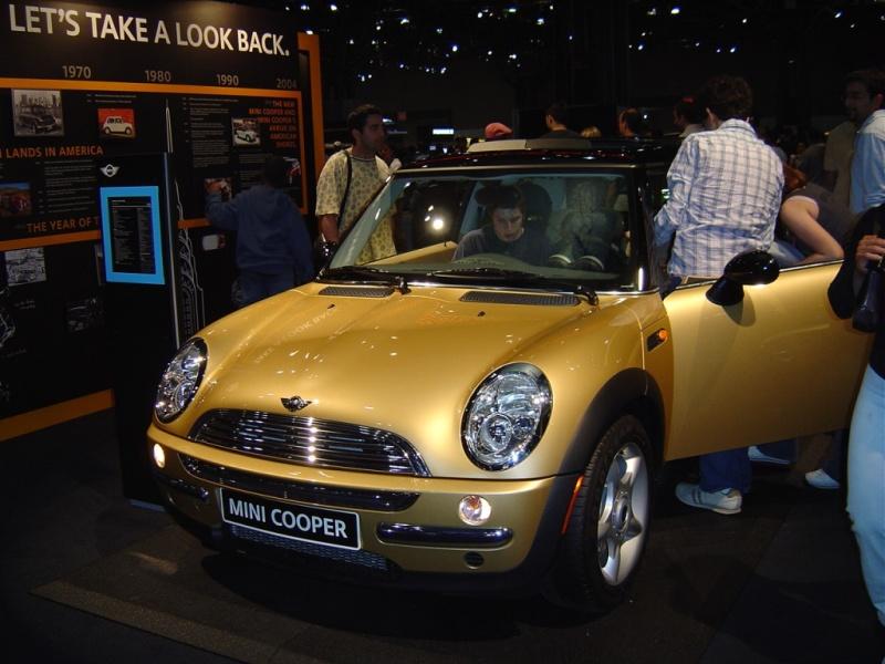 Gold Mini Cooper