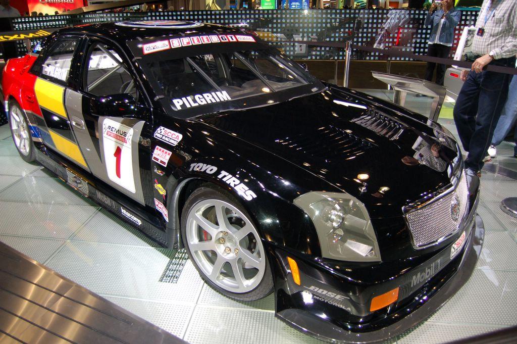 race car at ny auto show