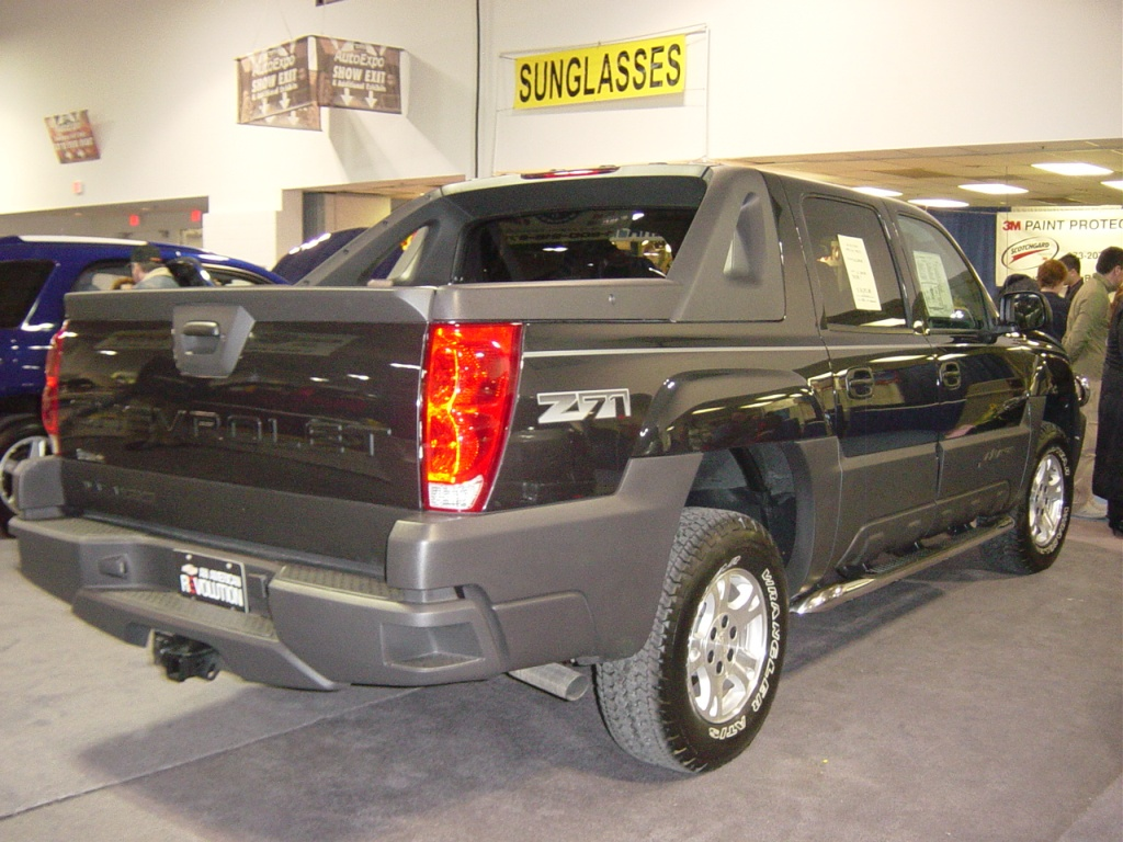 black-chevy-avalanche-rear-view