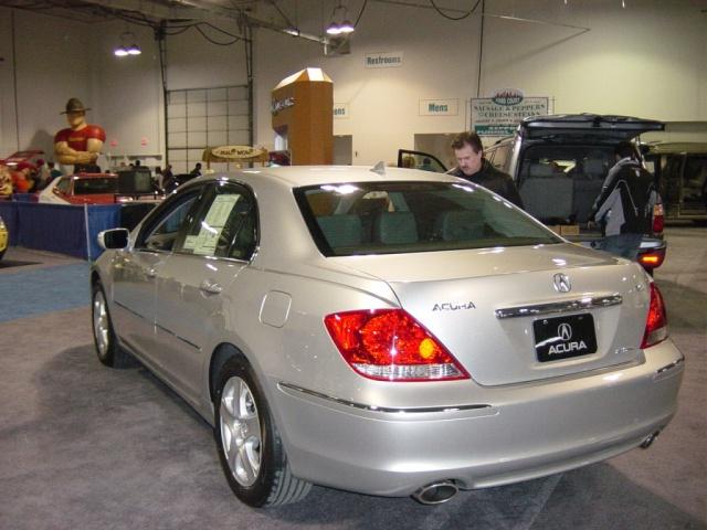 silver acura rl rear view