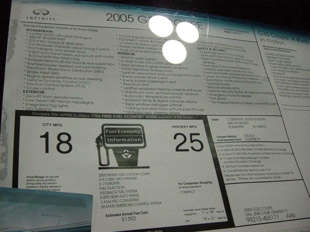 infinite-g35-sticker