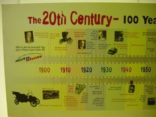 100 year car history poster