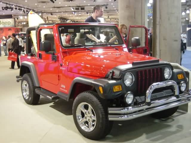 red jeep wrangler new york auto show 2003 car pictures. Black Bedroom Furniture Sets. Home Design Ideas