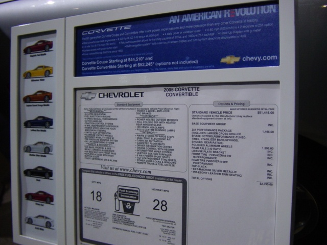 2005 cheverolet convertible information