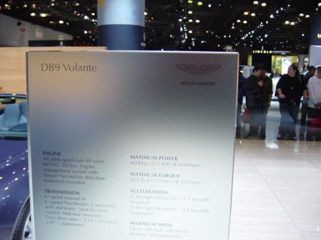 aston martin db9 valante information