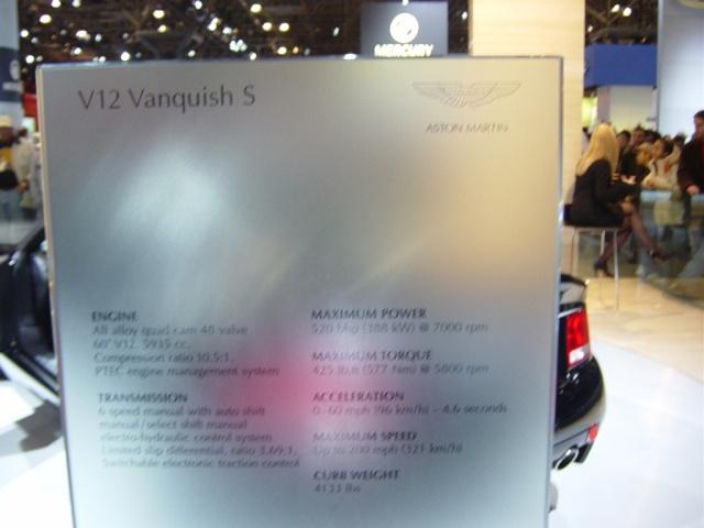 aston martin v12 vanquish s information