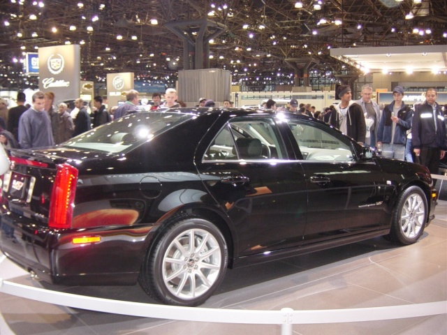 black cadillac rear view