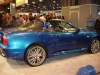 side view blue maserati spyder