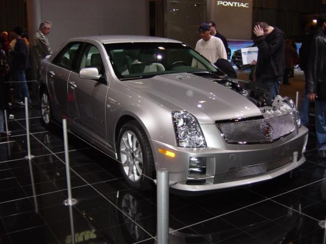 silver cadillac at n y car show