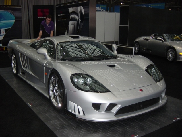 silver saleen front view