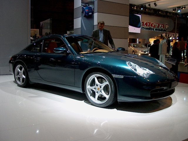 porsche 996 targa 01 paris car show 2002 car pictures by carjunky. Black Bedroom Furniture Sets. Home Design Ideas