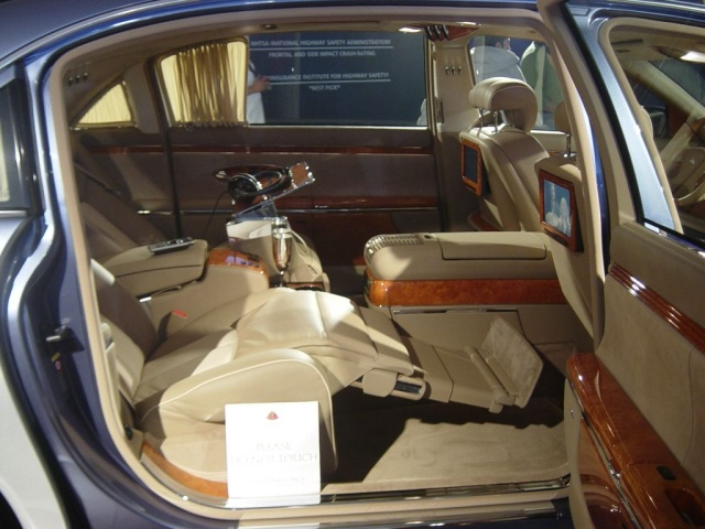 maybach interior view