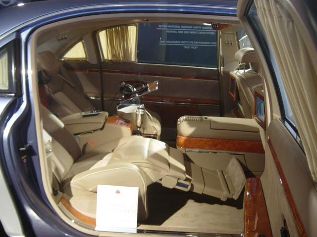 maybach rear reclining seat