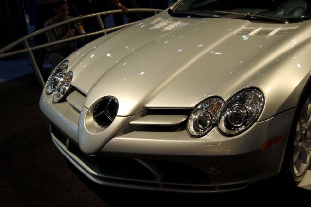 mercedes slr front grill and lights