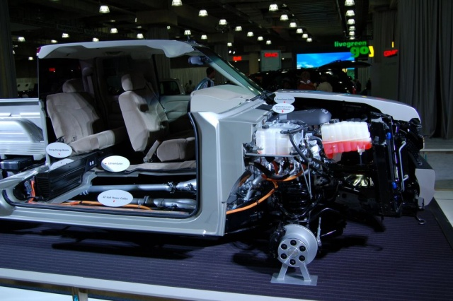 interior of chevy electric vehicle