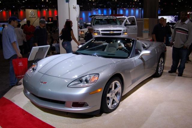 silver corvette convertible