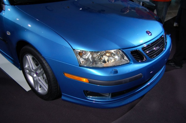 blue saab lights and grill