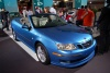 saab blue convertible