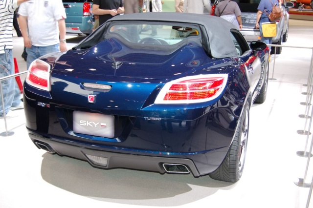 blue saturn sky rear view